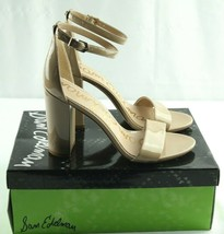 Sam Edelman Yaro Dress Sandals Womens Sz 10 M Nude Patent Ankle Strap Heels - $54.00