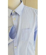 Allsaints Pascal Shirt Spitalfields Mens XL Blue Point Collar Long Sleev... - $36.63