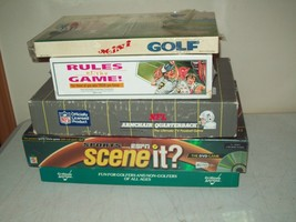 lot of 5 vintage board games SPORTS GAMES golf football ESPN & more - $14.85