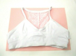 Maiden Form Girl Puberty Bra Size Medium White Racer Back Lace Cotton NW... - $13.85