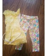 Self Esteem toddler girls sleeveless yellow top and legging  size 5T - $5.00