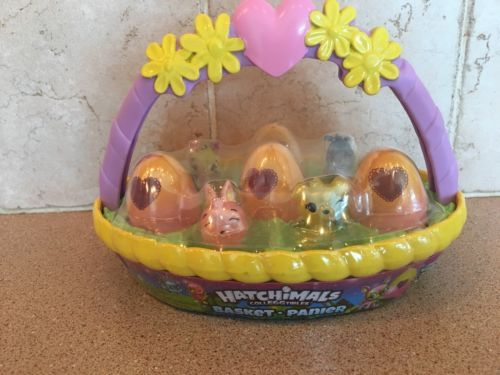 Hatchimals Colleggtibles Pink Bunny New Basket
