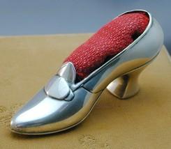 STUNNING Antique Sterling Silver Gorham Figural Shoe Pin Cushion - $225.00