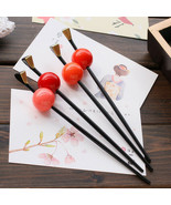 Japanese Geisha Oiran Headwear Hairpin Kanzashi kimono Ball Hair Stick A... - $21.99
