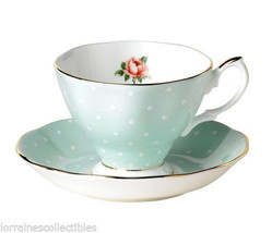 Royal Albert NEW  POLKA ROSE TEA CUP SAUCER NEW - $42.08