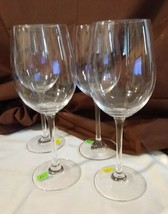 "Longaberger Glass Set of 4 Tritan WINE GOBLETS GLASSES - 9 3/8"" -- No Box - $29.95"