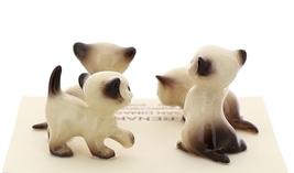 Hagen-Renaker Miniature Cat Figurine Tiny Siamese Kittens Set Seal Point image 3