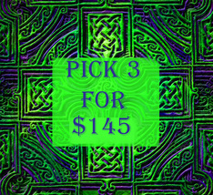 WED-PICK 3 FOR $145 DOES NOT INCLUDE NO DEALS & MYSTICAL TREASURES - $0.00