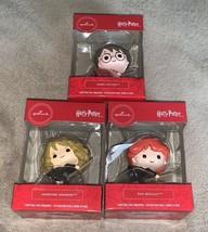 Hallmark Harry Potter Ron Weasley Hermione Granger Christmas Tree Ornaments - $45.00