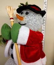 Dancing Snowman Vintage Christmas Decor Light up Chilly Sam Santa Avon F... - $15.99