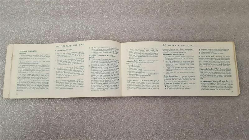 1970 FORD PASSENGER CAR Owners Manual 15794