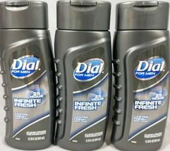 Dial for Men & AXE Body Wash Infinite Fresh Lasting Fresh 3 Bottles 11.75 Oz. - $18.76