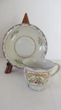 Shofu Blue Floral Footed Demitasse Cup & Saucer Set - $4.99