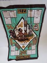 Linen Towel 1984 Collectible Calendar Aboriginal Art Australia - $7.99