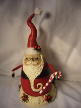 Bethany Lowe Robin Seeber Fat Santa with Candy Cane no. RS 9476 image 2