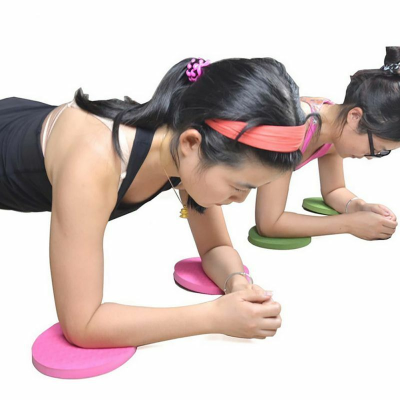 Plank Workout Knee Pad Cushion Round Foam Yoga Eliminate Knee Elbow Pain Sport