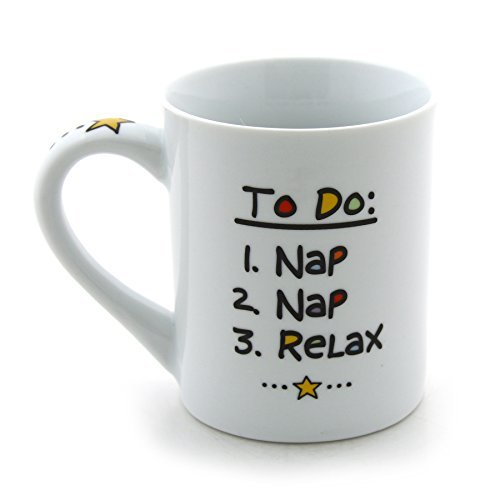 """Our Name is Mud """"Retired"""" Cuppa Doodle Porcelain Mug, 16 oz."""