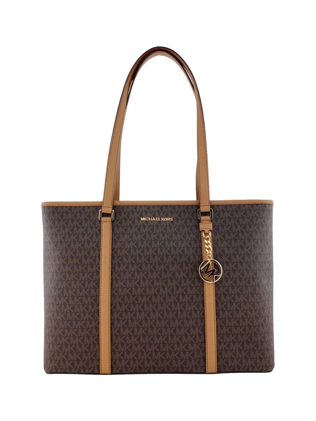 ac723c1b3930 Michael Kors Womens Sady Multifunction Top Zip Tote Bag Brown L