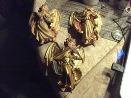 13#C Vintage Hanging Angels Playing Musical Instruments Horn harp, violi... - $49.49
