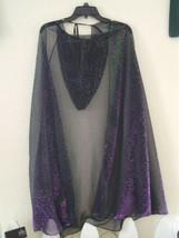 Ladies Metallic Iridecent Purple Green Animal Print Halloween Cape Hoode... - $13.63