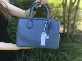 NWT MICHAEL KORS MD Mercer工作室收藏皮革DUFFLE BAG牛仔布-$ 169.99