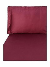 Yves Delorme Triomphe Red Queen Fitted Sheet Rubino Egyptian Cotton Sate... - $155.00