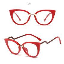 Ladies Optical Sexy Cat Eye Glasses Frames Women Brand Designer Eyeglasses Fashi image 9