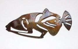 Humu Triggerfish Metal Wall Art Decor small copper/bronze plated - $9.89