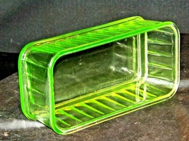 Green Depression Glass Storage Container Mid Century Kitchen Antique AA19-CD003 image 2