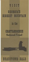 Vintage Travel Brochure Brasstown Bald Georgia Chattahoochee National Fo... - $7.91