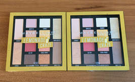 Lot Of 2 Maybelline Lemonade Craze Eyeshadow Palette # 100 .26oz (7.4g) Each - $14.34