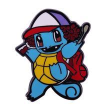 Stranger things Dustin hat brooch cute Pokemon Squirtle pin supernatural Mashup - $10.99+