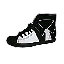 Be&d By Maison Dumain White Tuxedo on Black Canvas Men Casual or Sports ... - $54.99