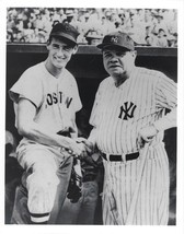 Babe Ruth & Ted Williams 8X10 Photo New York Yankees Ny Red Sox Baseball Picture - $3.95