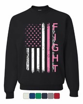 Fight Breast Cancer Sweatshirt Pink Ribbon Awareness - $15.42+