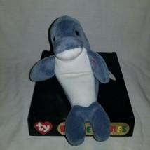 TY Beanie Baby - ECHO the Dolphin (6.5 inch) - MWMTs Stuffed Animal Toy - $8.90