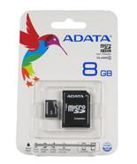ADATA MicroSDHC Card - AUSDH8GCL4-RA1 8GB Micro SD Sealed Retail Pack Fr... - $7.49