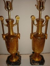 $12,500 LOVELY PR RARE GILT BRONZE AND MARBLE TABLE LAMPS C1920!!!! - $7,425.00