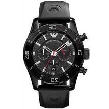 Emporio Armani AR5948 Black & Silver Chronograph Dial Sportivo Watch - $179.99