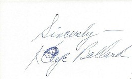 Kaye Ballard Signed 3x5 Index Card B - $24.74