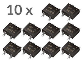 10 pcs SMD Rectifier DB207S 2A, 1000V (700V RMS), SOP Package - $2.29