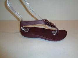 Crocs Size 7 SERENA EMBELLISH Burgundy Flip Flop Sandals New Womens Shoes - $58.41