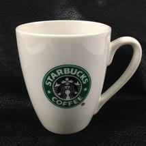 Starbucks Coffee Mug Cup 10.2 Oz Siren Mermaid Logo Green White 2007 - $14.92