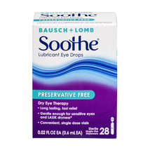 Bausch & Lomb Soothe Long Lasting Lubricant Eye Drops, 28 Count - $15.29