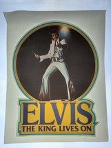 Vintage 1977 Elvis Presley The King Lives On T-shirt heat transfer scree... - $16.82