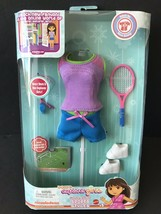 Doras Explorer Sport Style Doll Clothes Outfit Tennis Racket Shoes Tshir... - $5.93