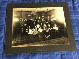 Family of Twenty-Five Photo Cabinet Card Photograph Cedar Springs Michigan - $17.81