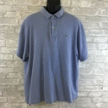 Tommy Hilfiger Polo, Rugby Blue Short Sleeve Size XL 100% Cotton - $21.93