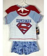 Superman 0-3M Baby Boy DC Comics 3PC Infants Layette BodySuit Short Shir... - $19.87