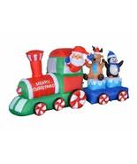 NEW Christmas Inflatable Santa Reindeer Penguin Train Lighted Yard Decor... - $108.89